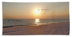 Shackleford Banks Sunset Hand Towel by Betsy Knapp