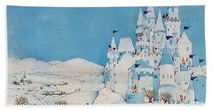Snowman Castle Hand Towel by Christian Kaempf