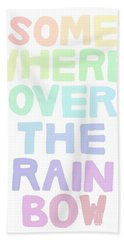 Somewhere Over The Rainbow Hand Towel by Priscilla Wolfe