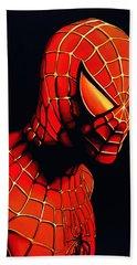 Spiderman Hand Towel by Paul Meijering