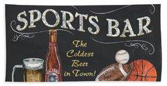 Sports Bar Hand Towel by Debbie DeWitt