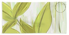 Spring Shades - Muted Green Art Hand Towel by Lourry Legarde