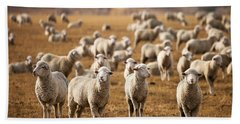 Standing Out In The Herd Hand Towel by Todd Klassy