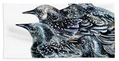Starlings Hand Towel by Marie Burke