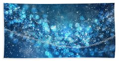 Stars And Bokeh Hand Towel by Setsiri Silapasuwanchai