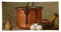 Still Life Hand Towel by Jean-Baptiste Simeon Chardin