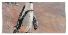 Stroll Along The Beach Hand Towel by David Stribbling