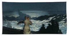 Summer Night Hand Towel by Winslow Homer