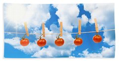 Sun Dried Tomatoes Hand Towel by Amanda Elwell