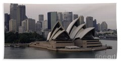 Sydney Australia Skyline Hand Towel by Bob Christopher