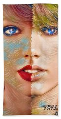 Taylor Swift - Blended Perfection Hand Towel by Robert Radmore
