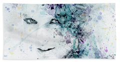 Taylor Swift Hand Towel by JW Digital Art