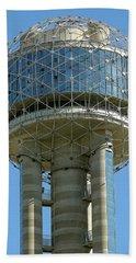 Texas Reunion Tower Globe Hand Towel by Daniel Hagerman