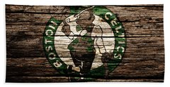 The Boston Celtics 6e Hand Towel by Brian Reaves