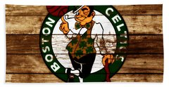 The Boston Celtics W6 Hand Towel by Brian Reaves