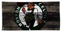 The Boston Celtics W9 Hand Towel by Brian Reaves