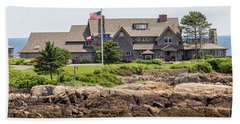 The Bush Compound Kennebunkport Maine Hand Towel by Brian MacLean