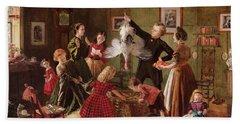 The Christmas Hamper Hand Towel by Robert Braithwaite Martineau