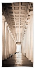 The Columns At Soldier Field Hand Towel by Anthony Doudt