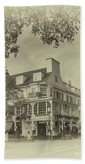 The Corner Room In Sepia Hand Towel by Tom Gari Gallery-Three-Photography