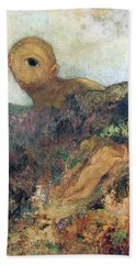 The Cyclops Hand Towel by Odilon Redon