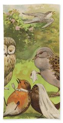 The Death Of Cock Robin Hand Towel by English School