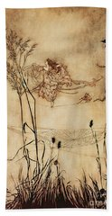 The Fairy's Tightrope From Peter Pan In Kensington Gardens Hand Towel by Arthur Rackham