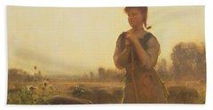 The Farm Girl Hand Towel by Arthur Hacker