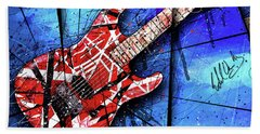 The Frankenstrat Vii Cropped Hand Towel by Gary Bodnar