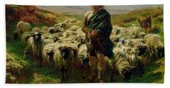 The Highland Shepherd Hand Towel by Rosa Bonheur