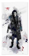 The Joker Hand Towel by Marlene Watson
