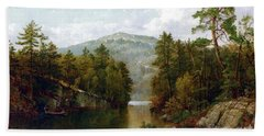 The Lake George Hand Towel by David Johnson