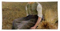 The Little Gleaner Hand Towel by Hugo Salmson