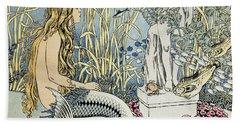 The Little Mermaid Hand Towel by Ivan Jakovlevich Bilibin