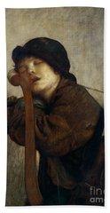 The Little Violinist Sleeping Hand Towel by Antoine Auguste Ernest Hebert