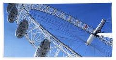 The London Eye, Close-up Hand Towel by Simon Kayne