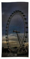The London Eye Hand Towel by Martin Newman