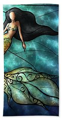 The Mermaid Hand Towel by Mandie Manzano