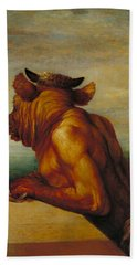 The Minotaur Hand Towel by George Frederic Watts