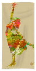 The Music Rushing Through Me Hand Towel by Nikki Smith