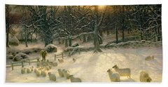 The Shortening Winters Day Is Near A Close Hand Towel by Joseph Farquharson
