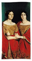 The Two Sisters Hand Towel by Theodore Chasseriau