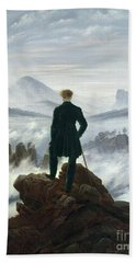 The Wanderer Above The Sea Of Fog Hand Towel by Caspar David Friedrich