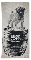Thirsty Dog Brewing Co. Keg Hand Towel by Edward Fielding