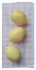 Three Lemons Hand Towel by Edward Fielding