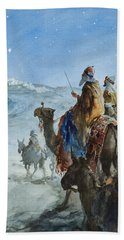 Three Wise Men Hand Towel by Henry Collier