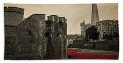 Tower Of London Hand Towel by Martin Newman