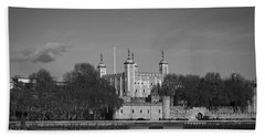Tower Of London Riverside Hand Towel by Gary Eason