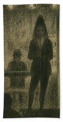Trombonist  Hand Towel by Georges-Pierre Seurat