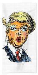 Trump Hand Towel by Robert Yaeger